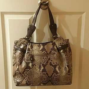 Jessica Simpson faux snakeskin purse